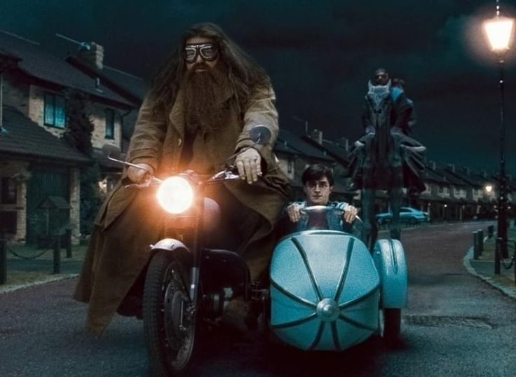 According to Robbie Coltrane who plays Hagrid, he was 'based on a Hell's Angel she knew in the West Country. ...He was just huge and terrifying. And then he would sit down and talk about his garden and how his petunias had been very bad that year.'