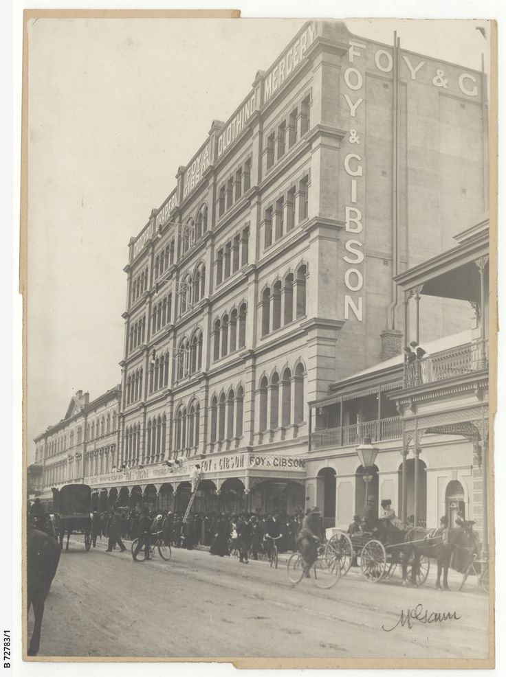 Foy & Gibson's department store, Rundle Street, c1908