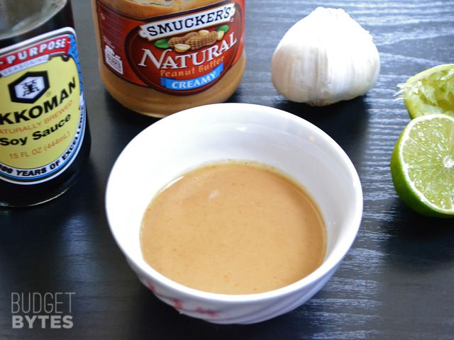 Peanut Lime Dressing - Budget Bytes (This is delicious! I served it with a crunchy asian salad, but I think it would be great over rice or asian noodles with a handful of peanuts)