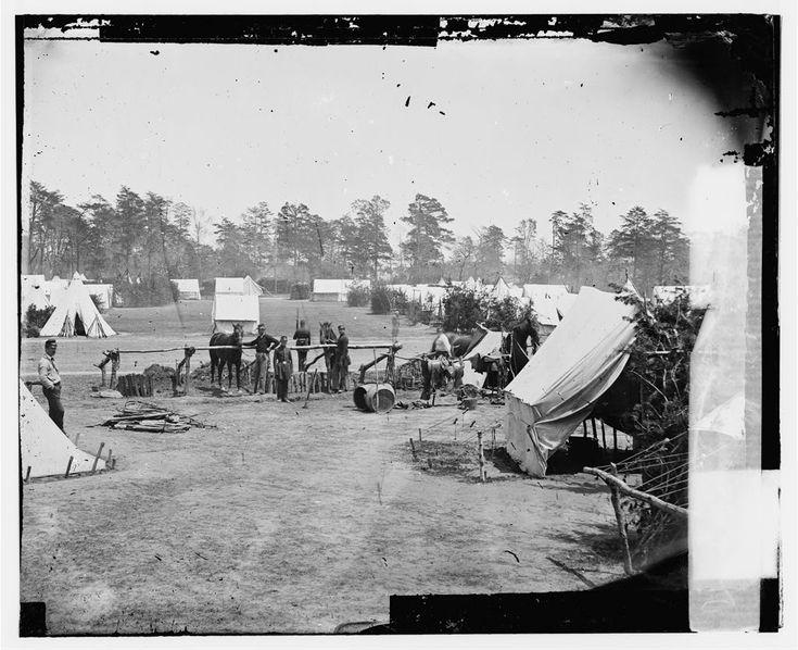 Headquarters of General George B. McClellan, Camp Winfield Scott - Near Yorktown, VA, May 1862
