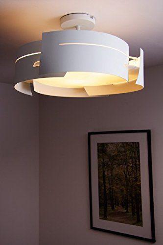 "White ceiling light ""wave"" design: Amazon.co.uk: Lighting"
