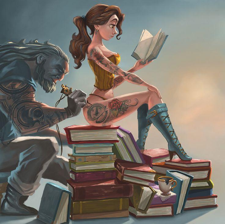 Inked Belle & The Beast by Joel Santana