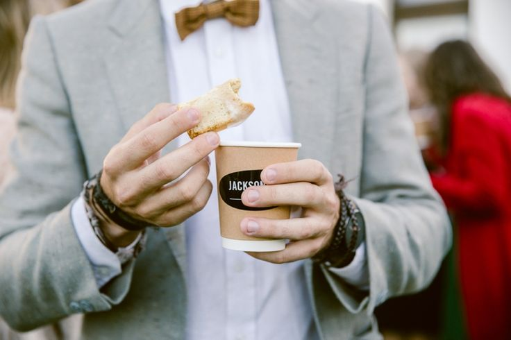 Winter wedding idea: Hire a barista to make coffee and hot chocolate for guests while you go take photos. It'll keep them warm and happy.
