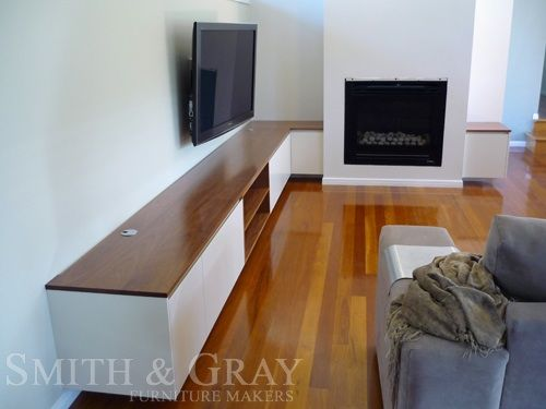 www.smithandgray.com.au  Love this custom built in TV unit, it would work perfectly in our living space.
