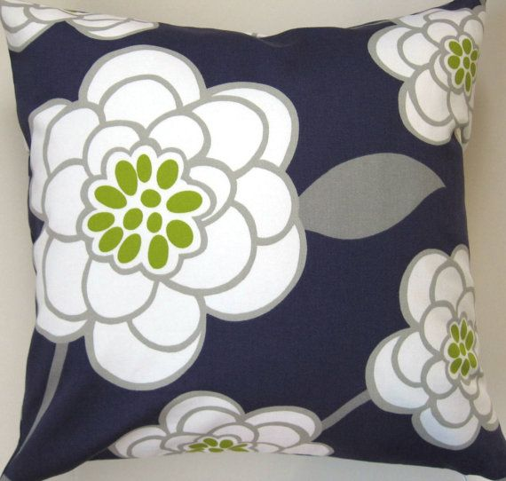 Purple and White Pillow Cover  Purple Floral Pillow by Freshlysewn, $29.00