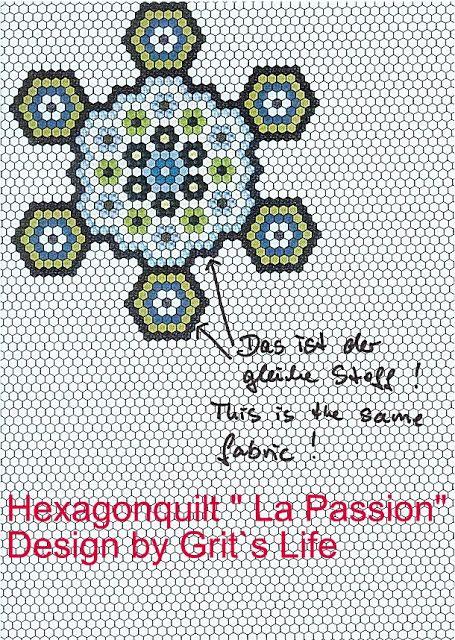 Grit's Life: Part 2 Hexagon Quilt La Passion