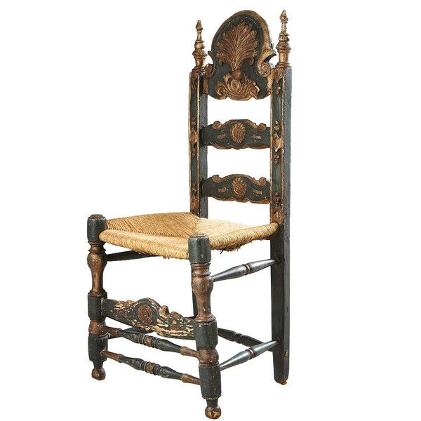 Spanish Painted Pine and Oak Ladderback Rush Seat Chair 18th century. 32 best Spanish Style images on Pinterest   Spanish style  19th