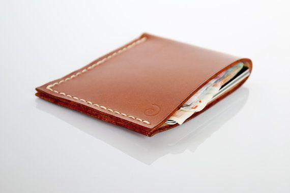 Minimalist Leather Wallet in Beech Nut, Business Wallet, Card Holder, Minimal Wallet, Cardholder, Banknote Holder, Men Wallet, Leather, Gift
