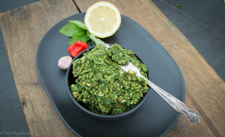 The best basil pesto recipe going. Well, definitely the most nourishing! Gluten free, grain free, dairy and nut free options, and vegan version too.