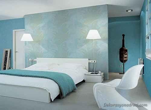 nice Mavi Yatak Odası Modelleri 2014