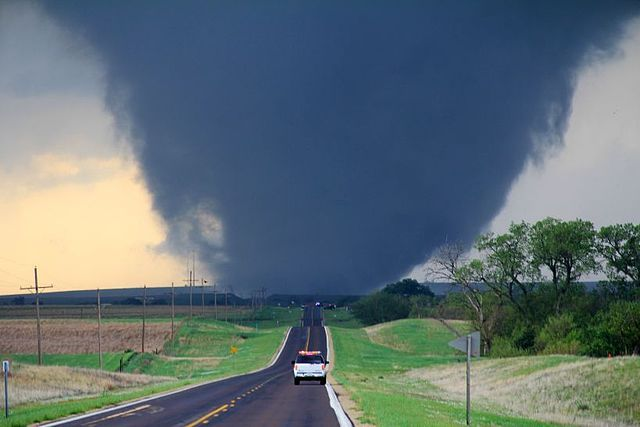 An #EF4 #tornado near Marquette, Kansas. By Will Campbell. #April 14, 2012