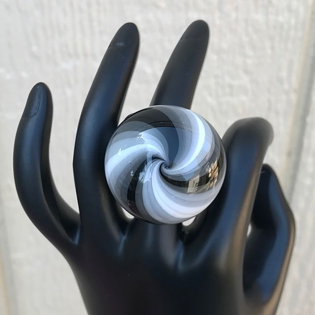 XL STASH ring! Make an offer in the comments. Offer must be $15 or more and I'll include US shipping. Highest offer at 8pm pacific tonight gets it! Must PayPal immediately once offer is accepted.  Many years ago, this stash ring style was part of my product line. They had Hidden stash with a rubber stopper. I'm thinking about bringing them back with a modern spin! This is a VERY large ring. Size 11!!! Swipe to see how it works! #corinnewintersglass Glass Garage Sale