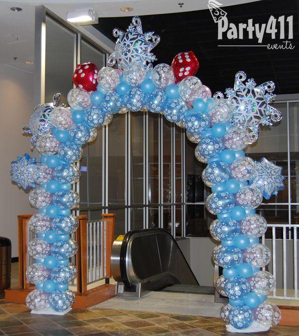 Winter Wedding Arch Decoration Ideas: Winter Wonderland Balloon Decor - Google Search