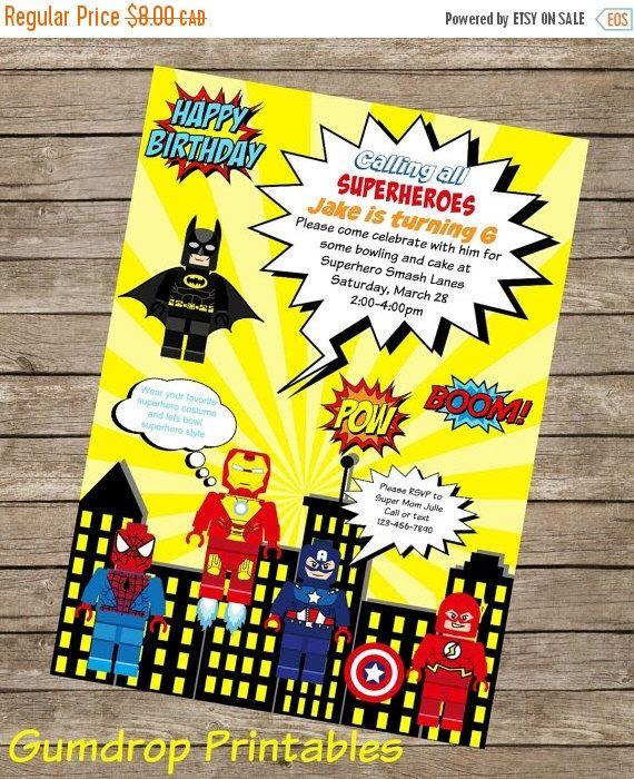 20%OFF Superhero Printable Birthday Invitation ~ Personalized with Your Party Details ~ Digital Print Yourself ~ Boys Custom Birthday Invita by GumdropPrintables on Etsy https://www.etsy.com/listing/225484575/20off-superhero-printable-birthday