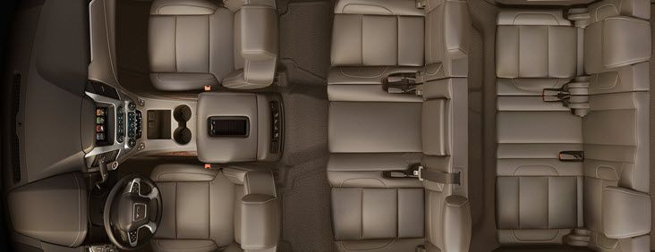 SIGNATURE FIT AND FINISH  The 2017 Yukon full-size SUV interior offers a perfect blend of craftsmanship, comfort and functionality. The proof is in the details, including:   Authentic aluminum trim Contrast stitching on console and doors Power-tilt and telescoping steering wheel (manual-tilt steering wheel on SLE models) Tri-Zone Automatic Climate Control for maximum passenger comfort Available power-adjustable pedals Optional leather-wrapped heated steering wheel