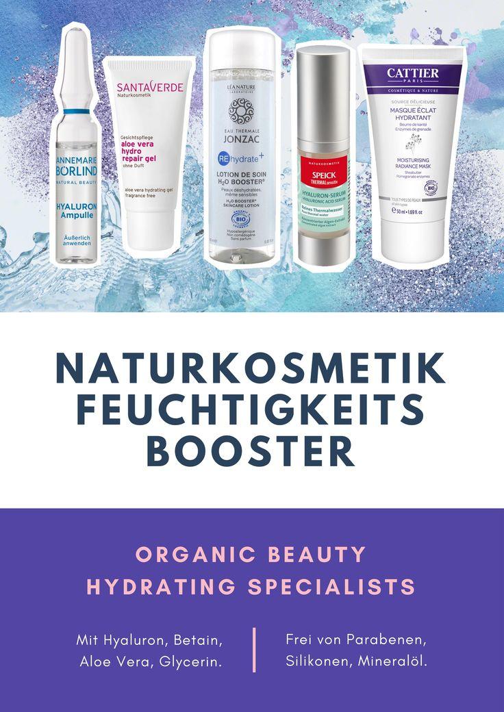 Naturkosmetik Feuchtigkeit-Booster von Annemarie Börlind, Santaverde, Eau Thermale Jonzac, Speick Naturkosmetik und Cattier Paris // Organic Beauty