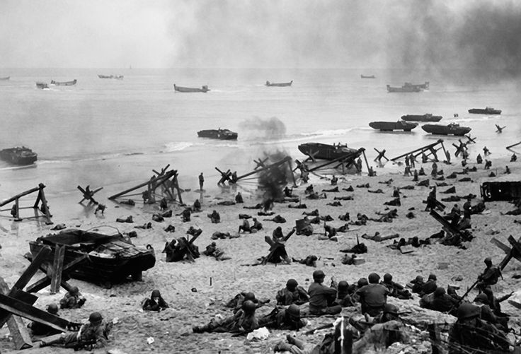 d-day battle photos