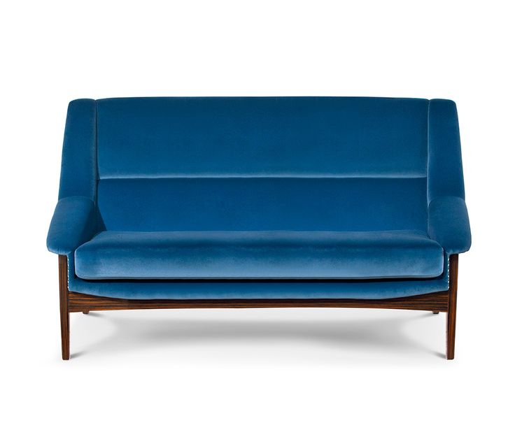 Inca Is A Modern 2 Seater Sofa Upholstered With Blue