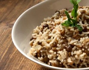 Simple lentils and rice
