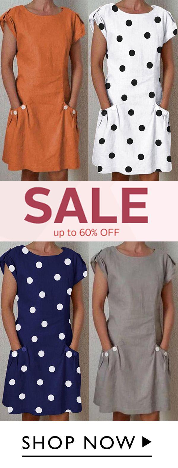 Summer Pockets Linen Plus Size Dresses