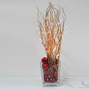 20 Quot Electric Gold Willow Lighted Branch With 25 Rice