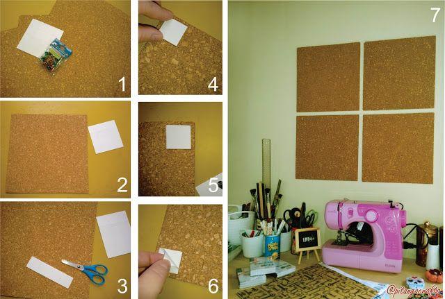 Pitanga Crafts: Passo a passo com a Pitanga: mural de cortiça!