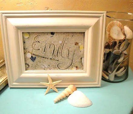 Framed Sand Writing Sand Pictures Beach Themed Crafts
