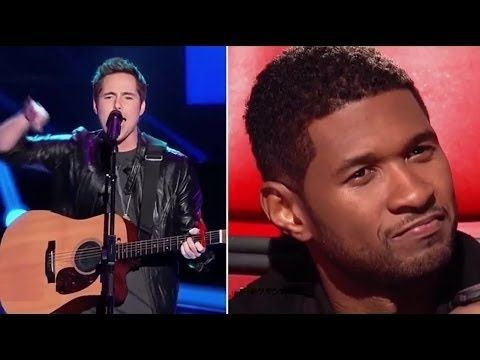 The Voice Usa - Jeff Lewis sing Usher song with new style and make him shocked: blake, adam, cee lo, Cee Lo Green, miley cyrus, alicia…