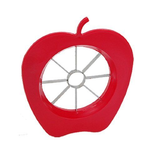 "Amico Home Kitchen Red Apple Fruit Easy Slicer Cutter Corer by Amico. $4.67. Package included; 1 x Apple Slicer Cutter. Total size: 6"" x 5 7/16"" x 11/16""(L*W*D). Inner Diameter: 3 1/2"". Weight: 58g. Made from tough ABS plastic and stainless steel blades.. Description:Red Apple Fruit Easy Slicer Cutter Corer for KitchenThis small Apple Slicer Cutter is suitable for cutting and slicing such fruits as apples and pears.Several sharp stainless steel blades can cut or sl..."