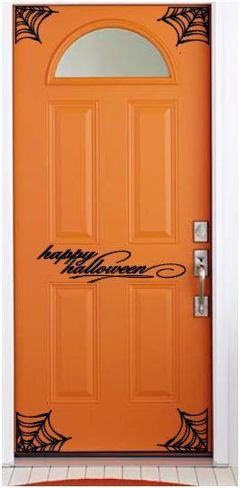 Halloween Door Decals Happy Halloween Happy And Front Doors