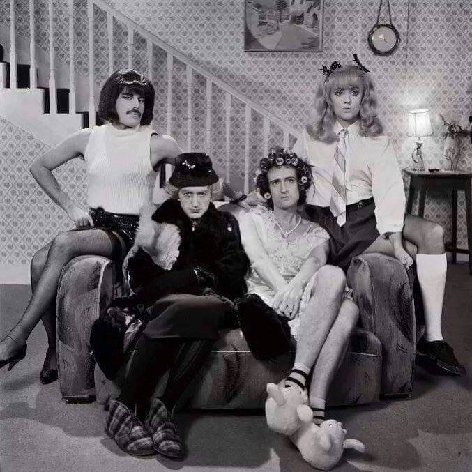 Freddie Mercury John Deacon Brian Could and Roger Taylor from I Need To Break Free…