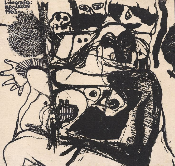 Litografía (1963) Roberto Broullon