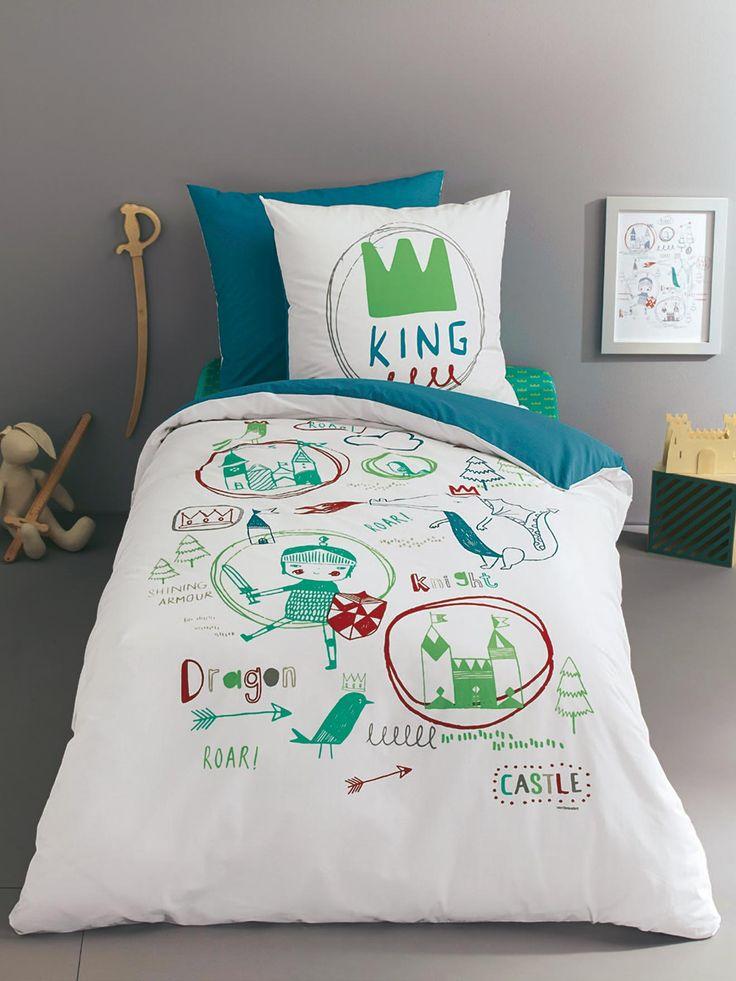 140 x 200 Taie d'oreiller enfant Dragon & Cie + Housse de couette enfant Dragon & Cie + Drap-housse enfant Dragon & Cie -