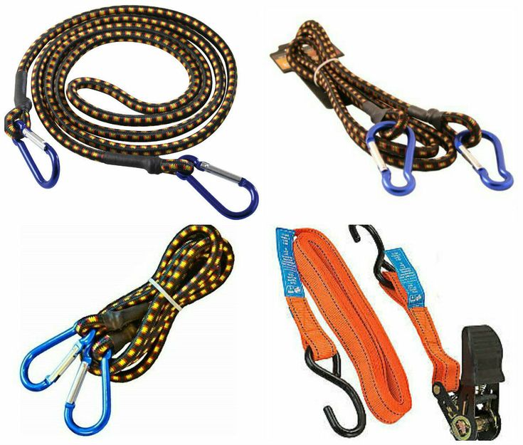 Details about new heavy duty bungee straps carbiner hook