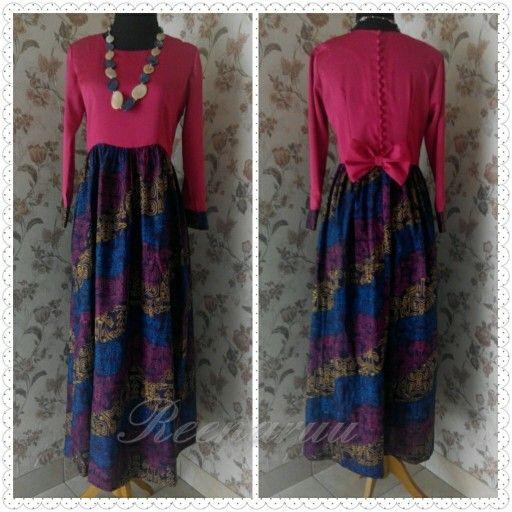 Cavalli satin dress combined with Batik Irian