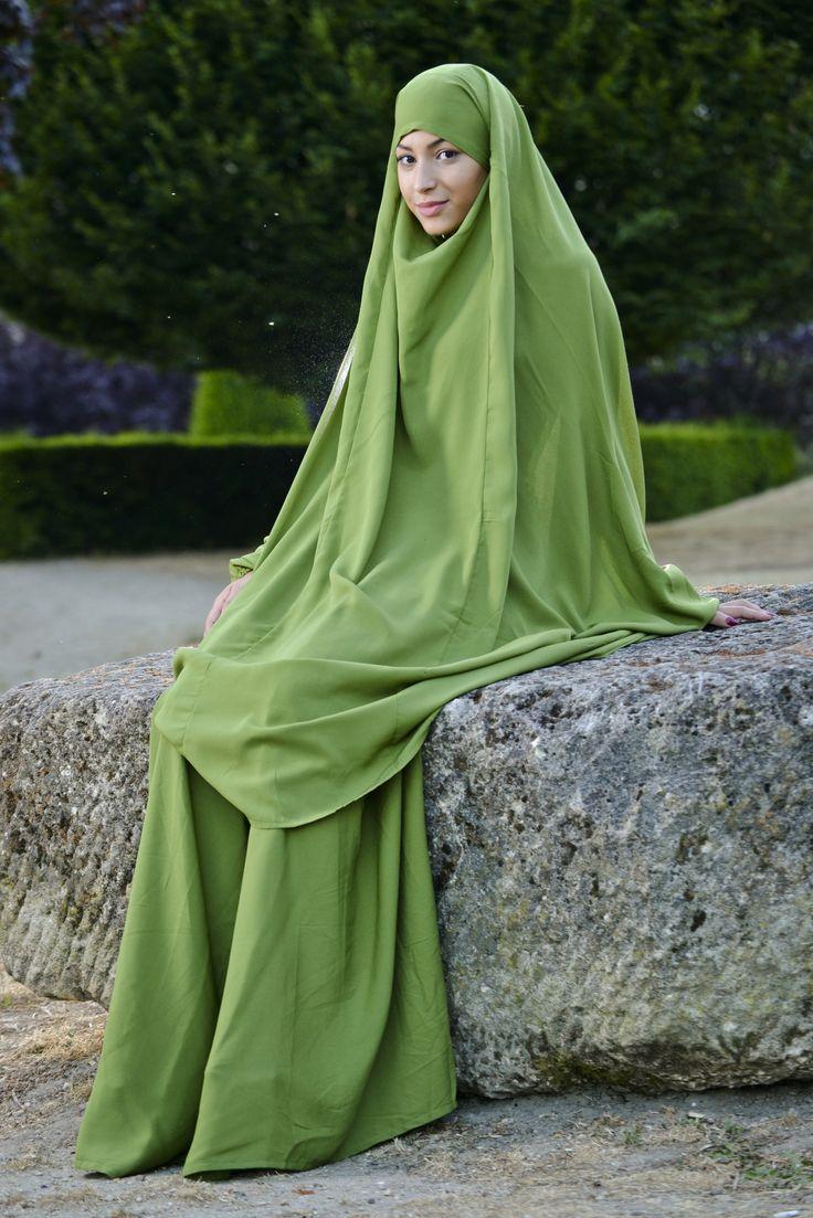 Jilbeb 2 pièces vert indigo | Iness Boutique