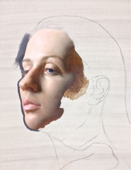 Portrait painting in progress…oil on linen