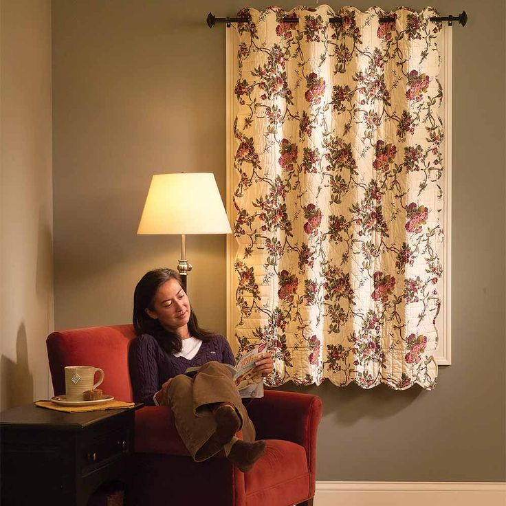 """Install Quilted Curtains to Block Drafts - If you're turning up the heat in the house to compensate for drafty windows, consider quilted curtains, which can increase your comfort and let you keep the temp down. Here's why winter curtains are great for insulating your home. The curtains are available in various colors, patterns and sizes. Search for """"quilted curtain"""" online to find retailers. A curtain can be installed in less than 10 minutes on your existing curtain rod.Here's why winter…"""