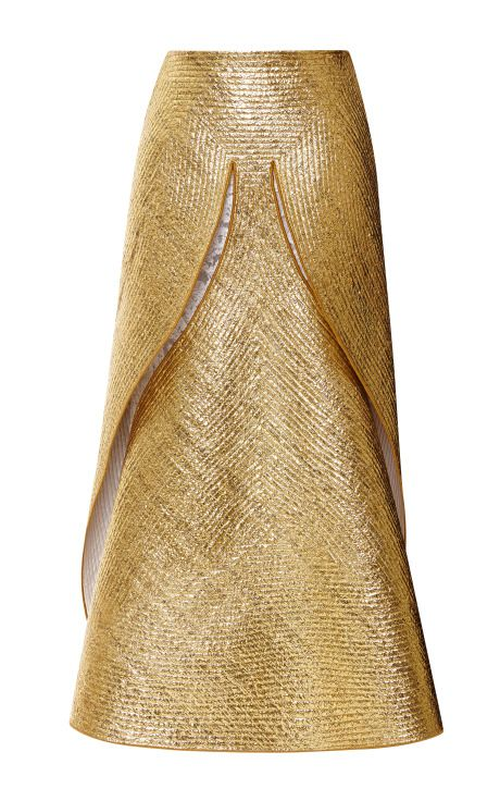 Laminated Dove Skirt by Thom Browne for Preorder on Moda Operandi