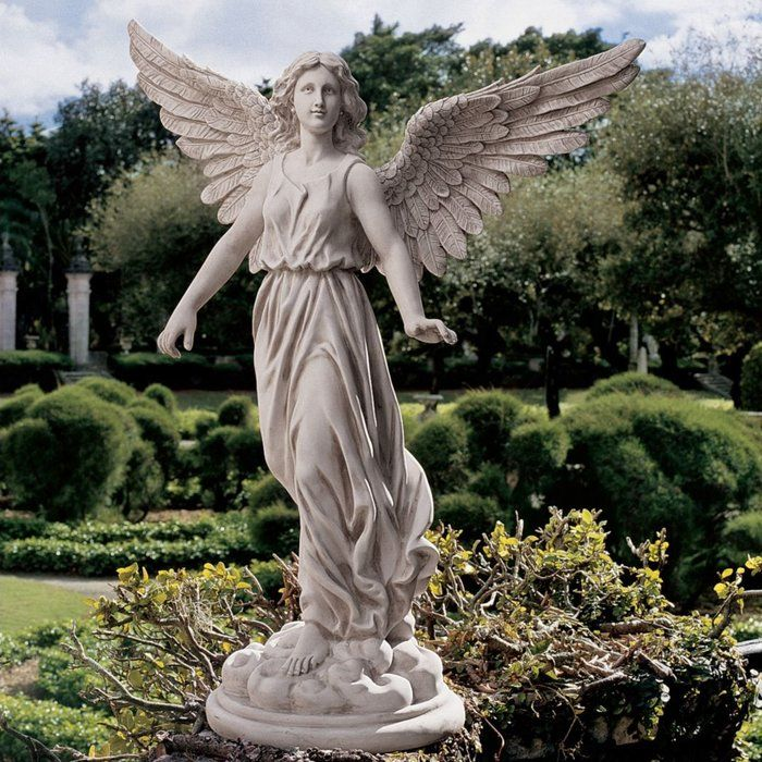 Angel Of Patience Statue Angel Garden Statues Angel Sculpture Garden Angels