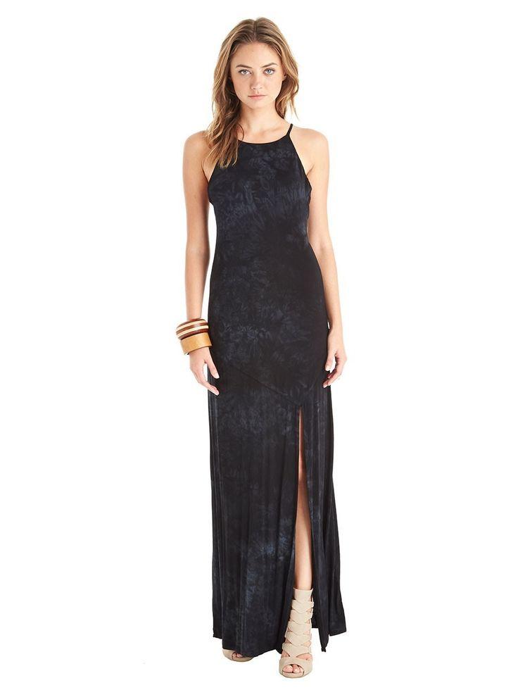 Retro maxi halter dress
