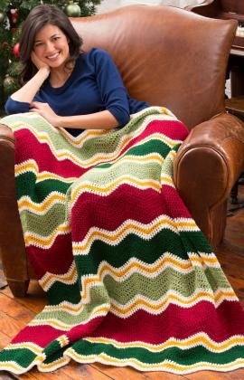 Holiday Chevron Throw Crochet Pattern for Beginners!