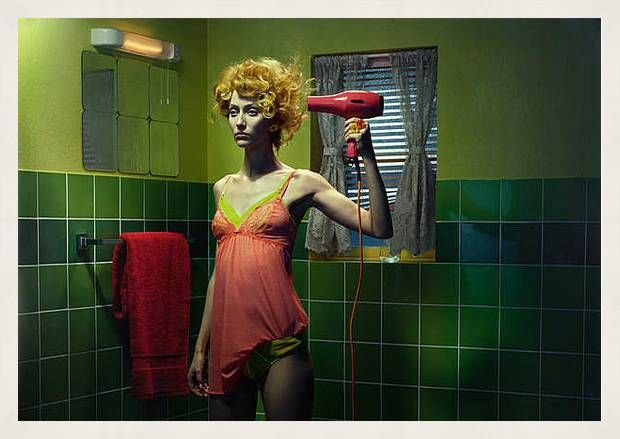 Miles Aldridge, Chromo Thriller #3, 2012 / 2014 © www.lumas.com/ #Lumas -  Miles Aldridge is one of the most significant contemporary photographers, and his artistic style is truly unmistakable. In his impressive photographs, the British fashion photographer creates alternate worlds that are precisely composed, saturated with colour, and viewed through his typical cinematic approach.