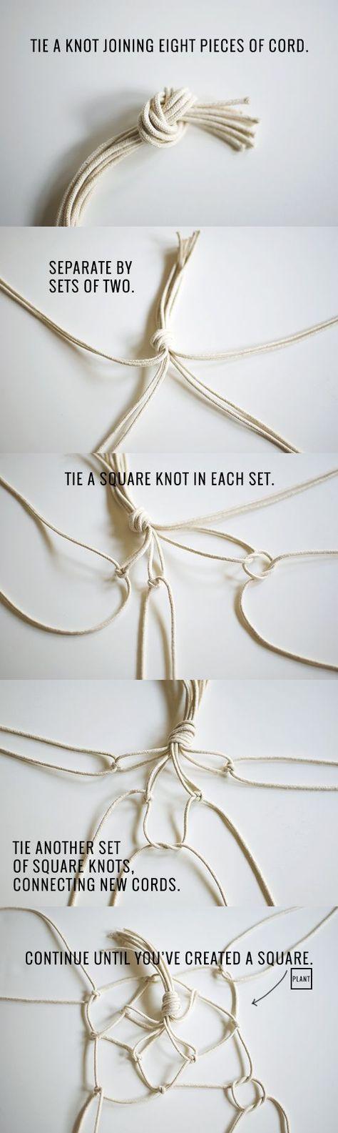 how to make a DIY macramé plant hanger | Inspired to Share #ankletsdiymacrame Priscilla Beiler