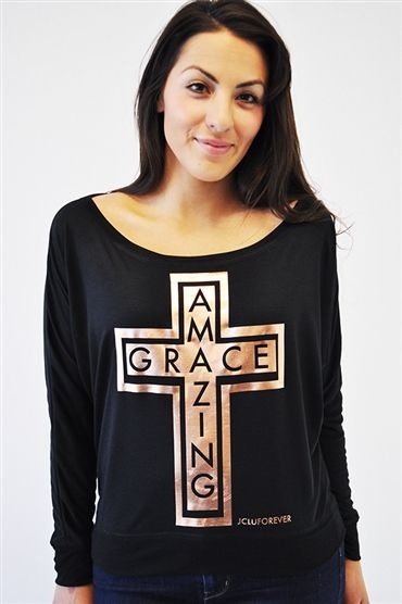 """The Amazing Grace Copper Cross Tank is imprinted with a copper foil and has a shiny finish. Inspired by Ephesians 2:8 """"For it is by grace you have been saved, through faith--and this not from yourselves, it is the gift of God"""" $23.99"""