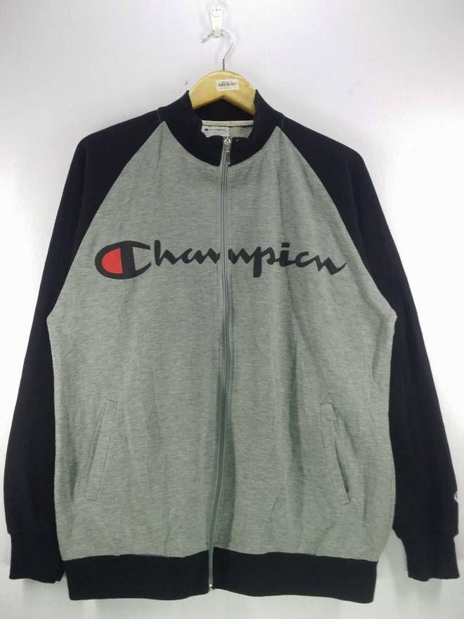 baa4f7d7 Champion Vintage 90's Champion Big Spell Out Zipper Sweatshirt Jacket Sport  Track Top Size Large Size US L / EU 52-54 / 3