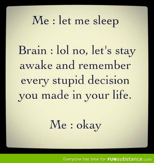Let me sleep, brain