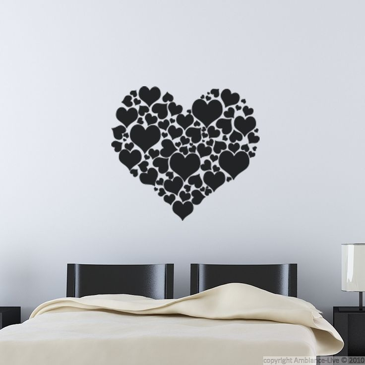 Wall Sticker Ideas Part - 21: This Different Hearts #wall #decal Can Give You Ideas For Decorating Your  Kitchen,