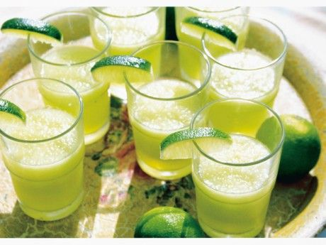 Lime and melon drink