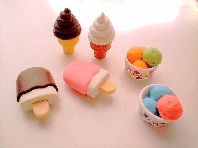 how to make food erasers